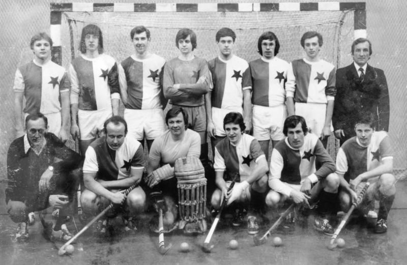 Muži SK Slavia Praha - pozemní hokej v roce 1974