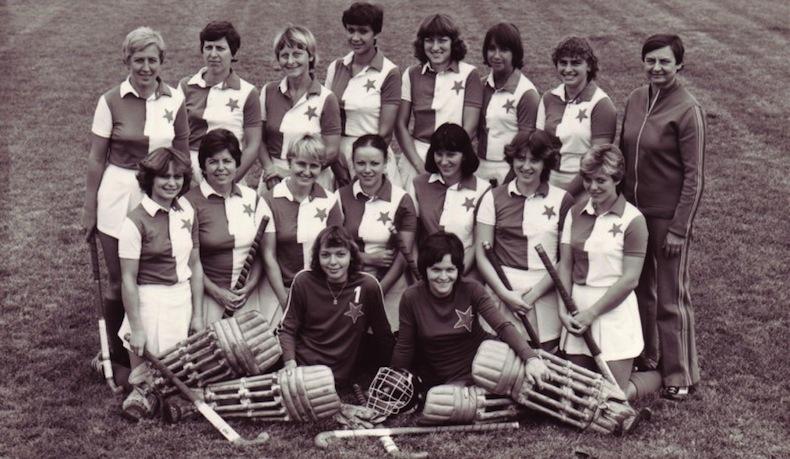 Ženy SK Slavia Praha - pozemní hokej v roce 1982